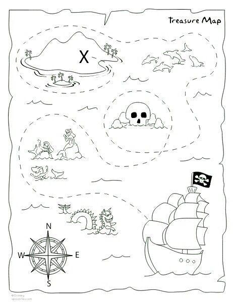 Carte Au Tresor De Chick : carte, tresor, chick, Treasure, Printable, Pirate, Maps,