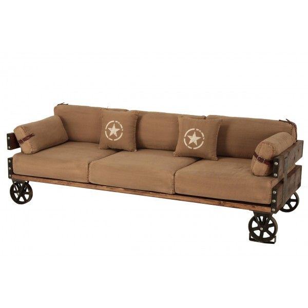 sof industrial army tiendas on garage style pinterest diy und selbermachen und selbermachen. Black Bedroom Furniture Sets. Home Design Ideas