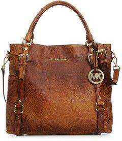 Vintage Michael Kors Weathered Handbags Handbag Bedford Ostrich Tote