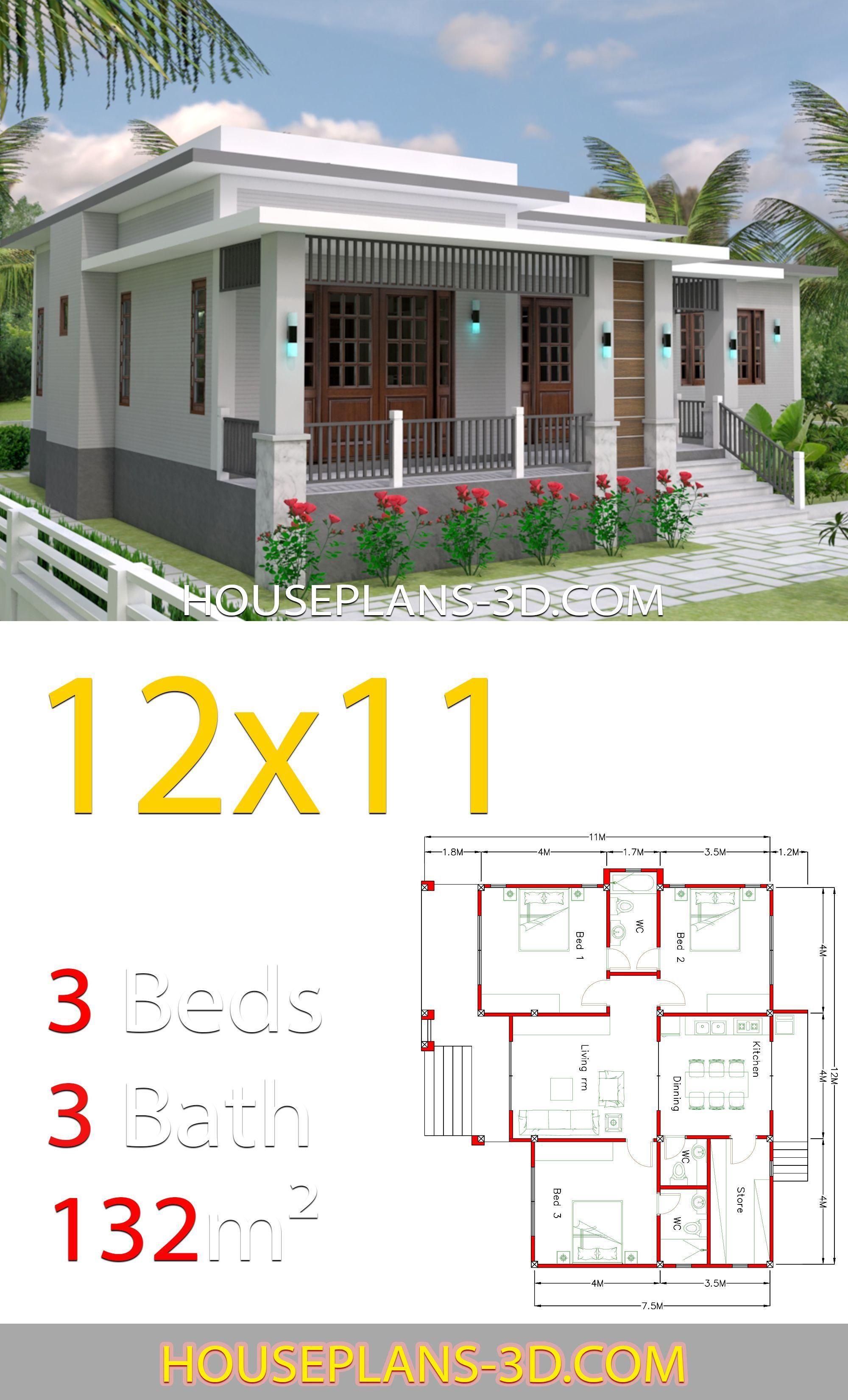 16 Plan Maison 7m X 12m House Plans Beautiful House Plans House Roof
