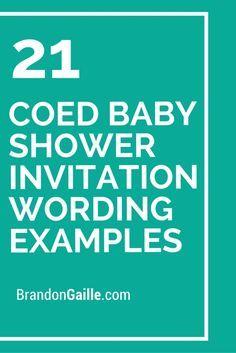 21 coed baby shower invitation wording examples gender reveal 21 coed baby shower invitation wording examples filmwisefo