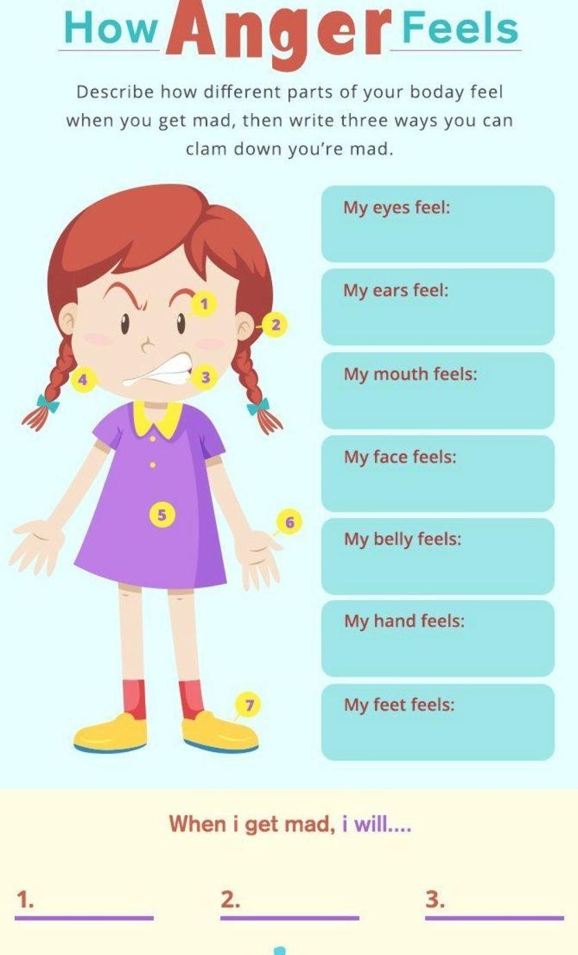 How Anger Feels Worksheet Anger Management In Children Is Not Easy But Anger Management Worksheets Anger Management Activities For Kids Anger Management Tips