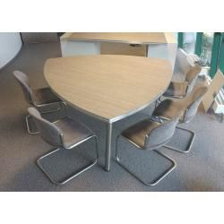 Photo of Conference table Pendo Rondo Wankelform 160 cm sandwich selection