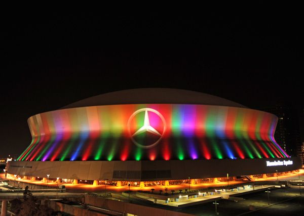 mercedes benz superdome at night notcot new orleans louisiana new orleans saints football new orleans french quarter new orleans louisiana