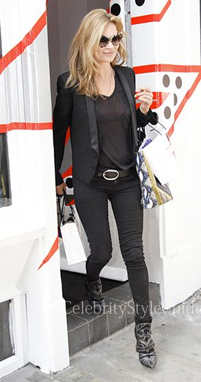 Kate Moss wore her favorite black Siwy Hannah Jeans out in London April 25 2013
