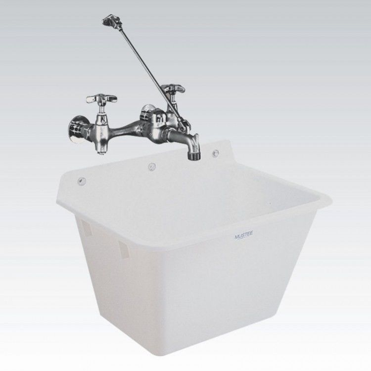Charmant Laundry Room Sink Wall Mount Slop Basin 12 Gal Leakproof Extra Deep Utility  #LaundryRoomSink