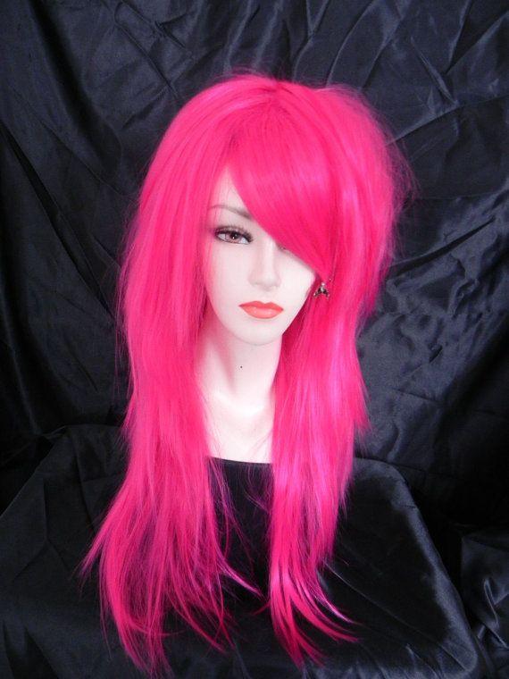 Purple / Long Curly Layered Wig Mermaid Hair Lolita by