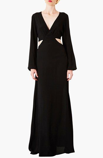 Love, Love, Love!!!!! Topshop Cutout Waist Jersey Gown available at #Nordstrom