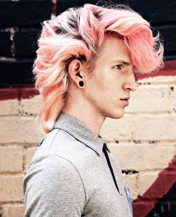 Blackbird More Click Here Pink Hair Dye Mens Hair Colour Men Hair Color