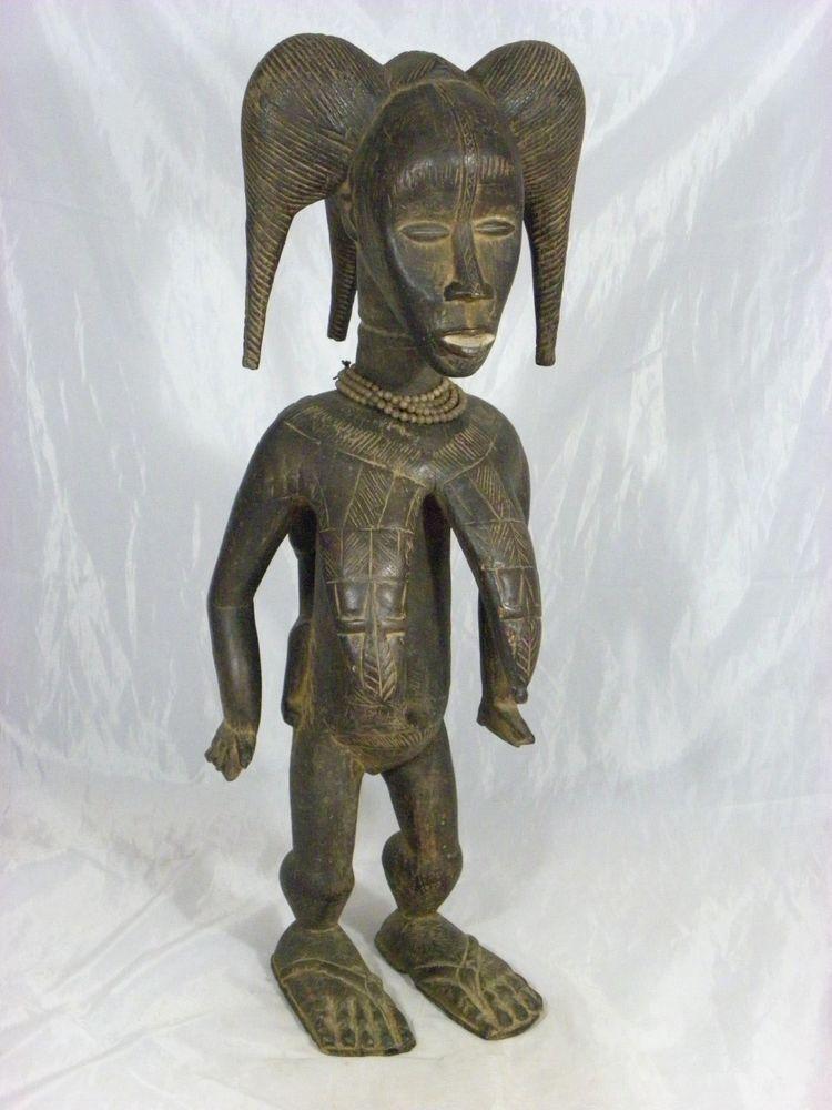 Stunning African Art Dan Maternity Figure, African Art at Afurakan Art Gallery