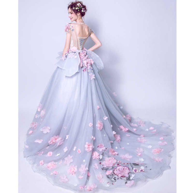 Real photo elegante 2019 quinceanera kleider rosa blumen ...