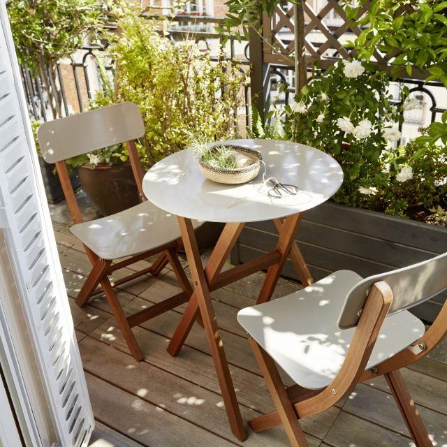 Salon de jardin en bois, Collection Itam
