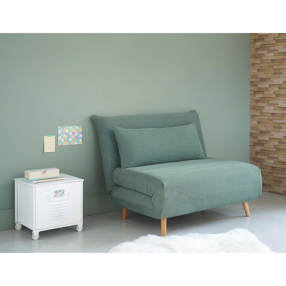 Ausziehbare 1 Sitzer Bank Wassergrun Schlafsessel Rauminspiration Schlafzimmer Einrichten