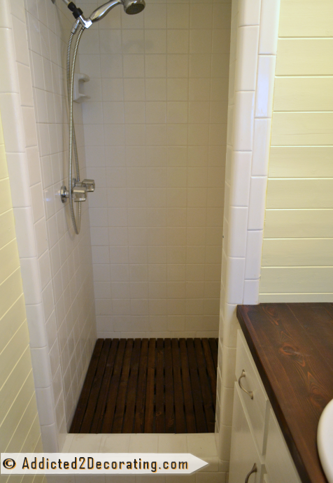 DIY Removable Cedar Shower Floor Mat - Removable Cedar Shower Floor Mat