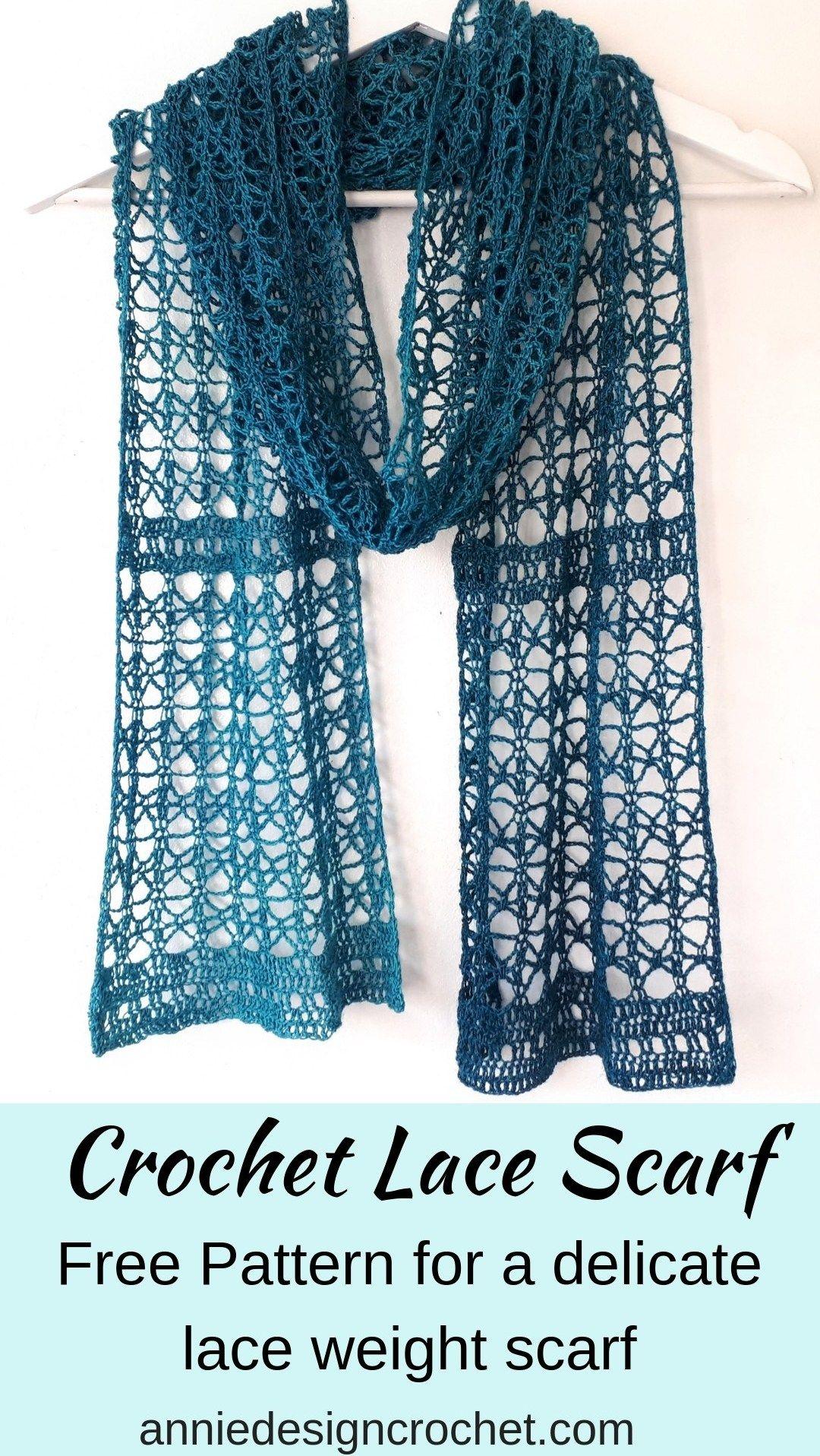 Rosaline – Free Crochet Pattern for a Delicate Lace Scarf – Annie Design Crochet