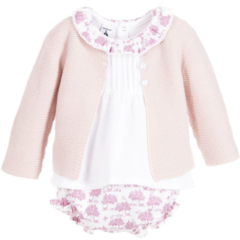 990c2aa63 Babidu Baby Girls Pink 3 Piece Shorts Set at Childrensalon.com | Little  Clothing | Pink girl, Pink, Baby