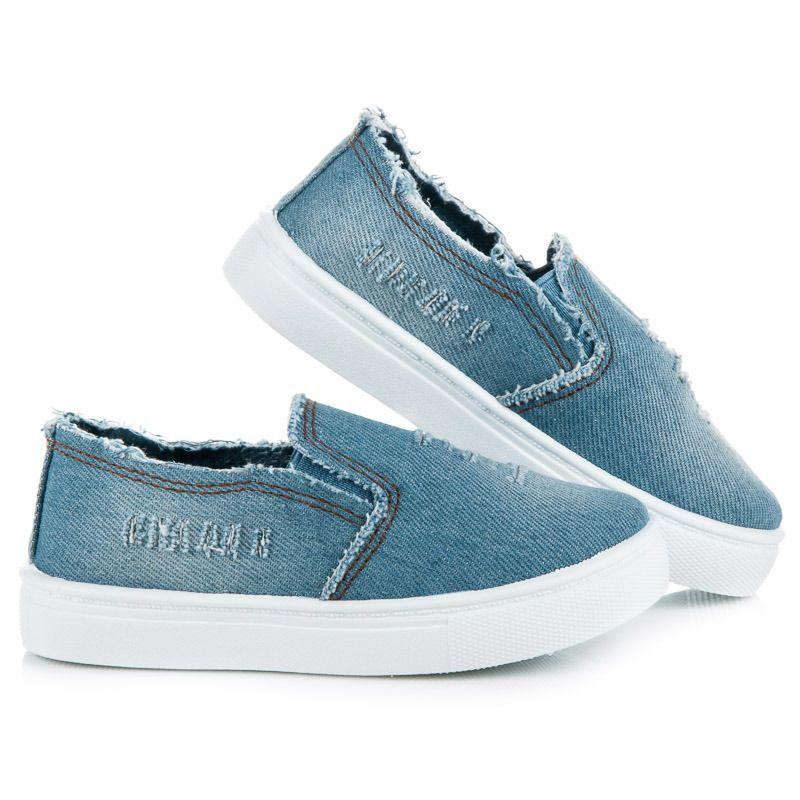 Dziewczece Jeansowe Slipony Vans Classic Slip On Sneaker Vans Classic Slip On Slip On Sneaker