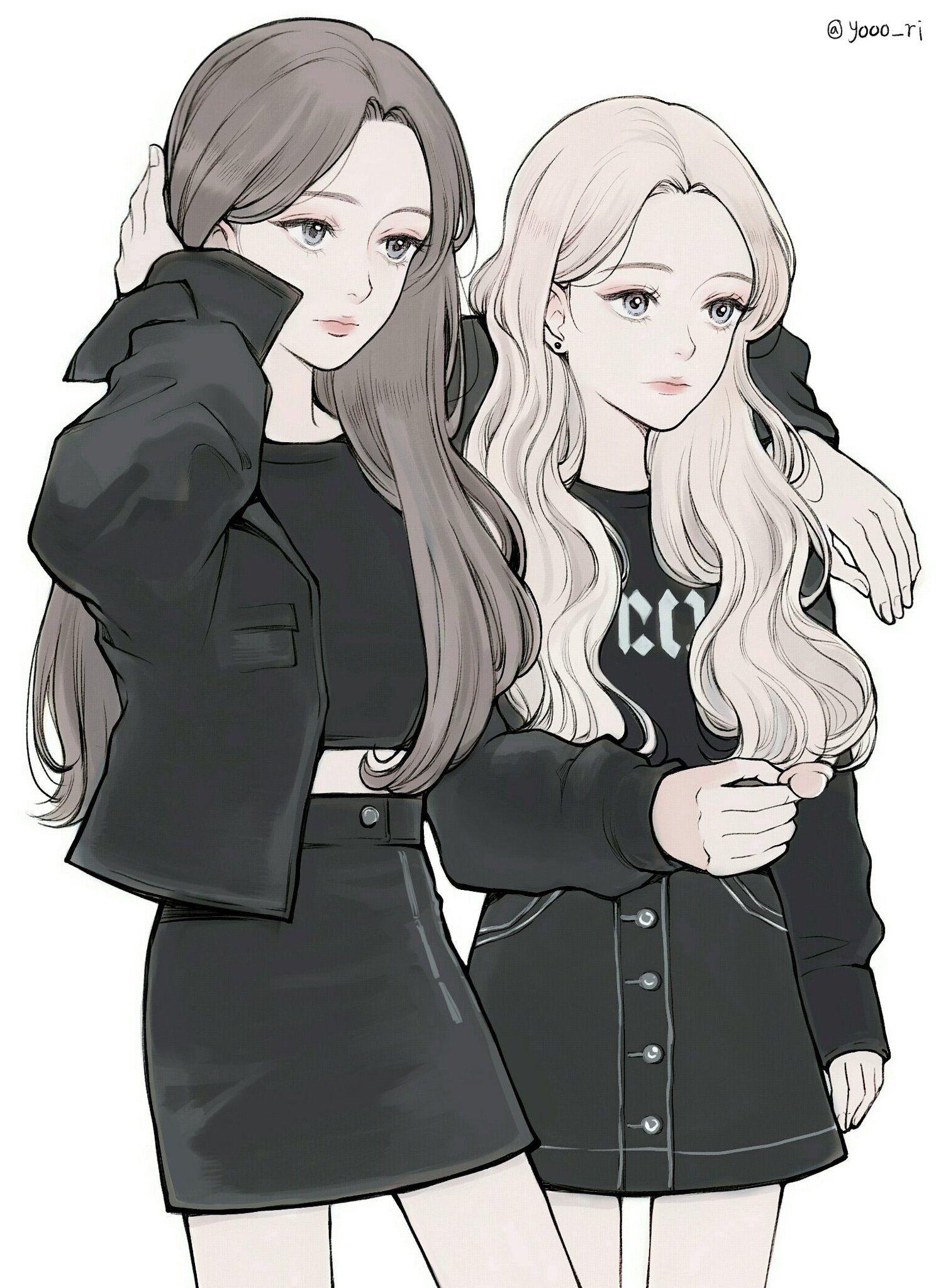 Ide oleh 蔡沛貞 pada Q圖 Gadis manga, Foto sahabat, Gadis