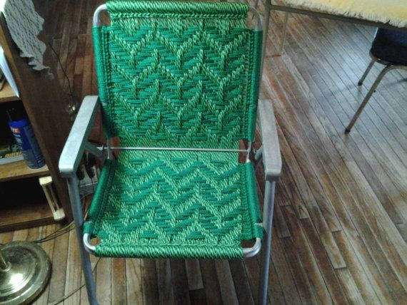 macrame lawn chair recycled frames