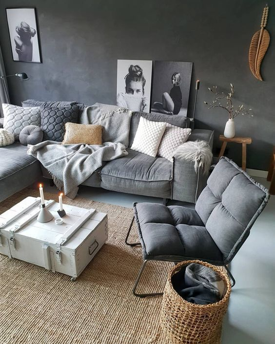 30 Awesome Ways to Style Your Grey Sofa in Living Room images