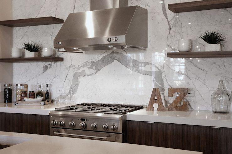 Full Height Backsplash Contemporary Kitchen Cr Home Design