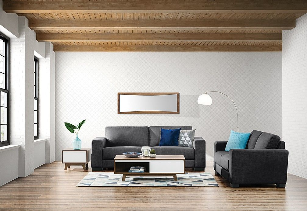 Omaha Fabric Sofa Pair Super A Mart Home Living Room Furniture