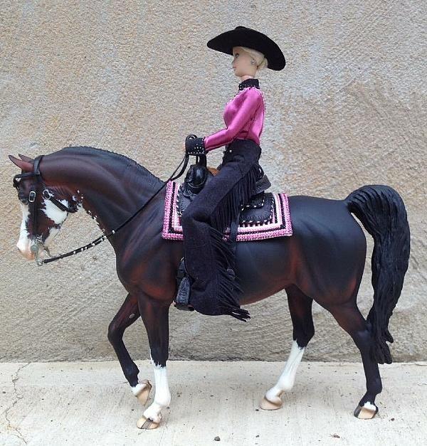 Western Rider Doll W/matching Pad  - model horse