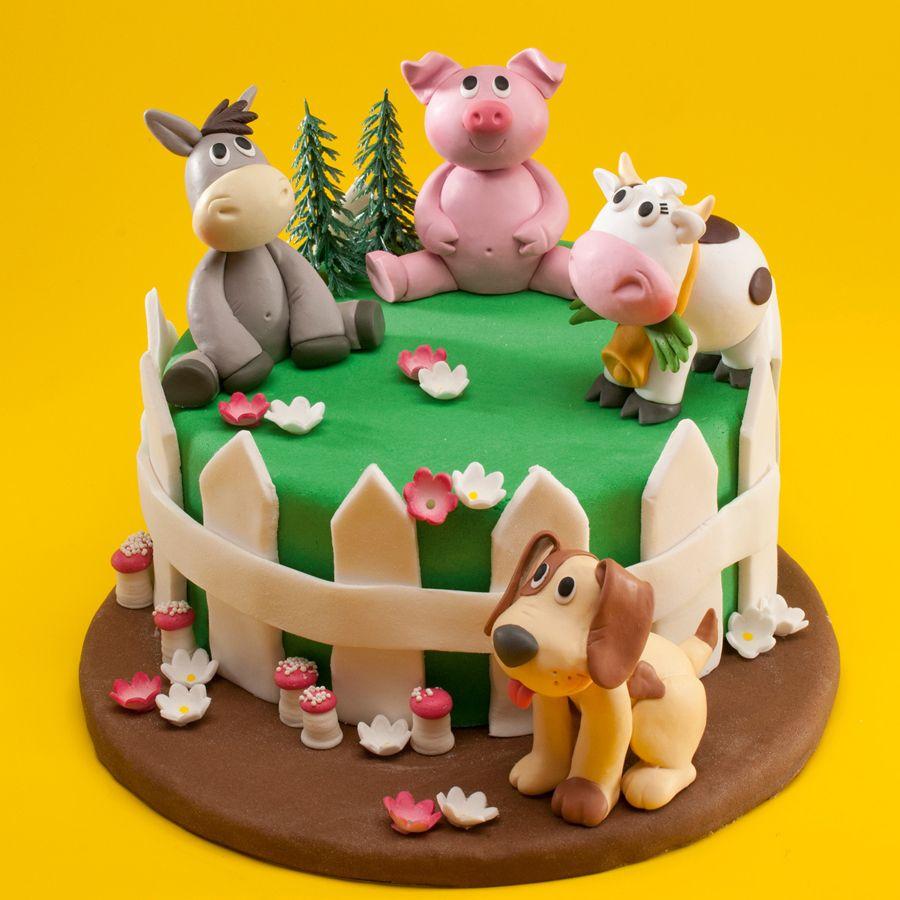 1 figurine animal de la ferme r sine cake cake designs and birthday cakes. Black Bedroom Furniture Sets. Home Design Ideas