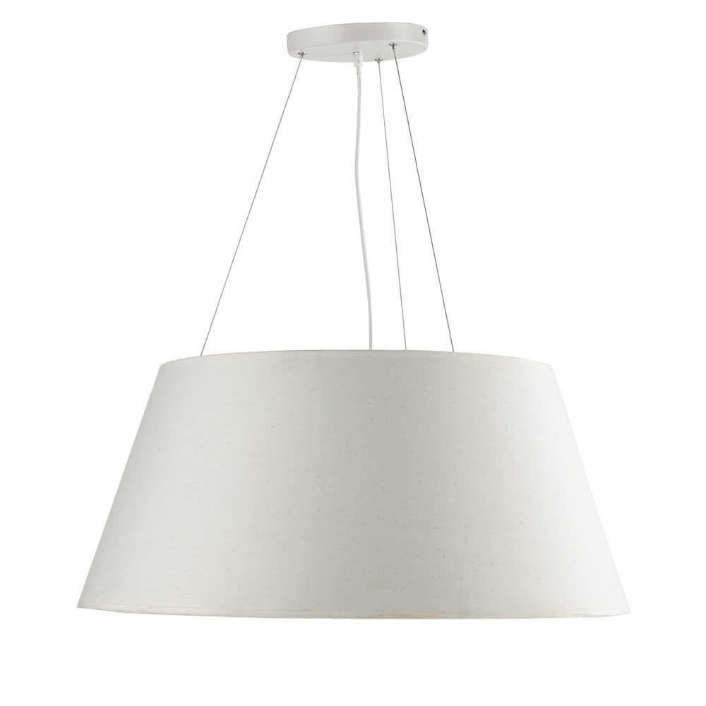 Suspension en coton blanche D 75 cm LISON | Luminaires ...
