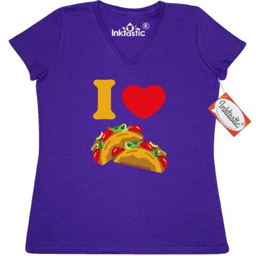 0cf14da1 Inktastic I Love Tacos Women's V-Neck T-Shirt Heart Taco Mexican Food  Pinkinkartkids Drinks Chef Cook Kitchen Coffee Clothing Apparel Tees Adult  | Jet.com