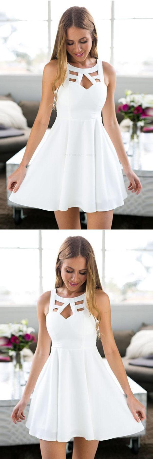 Short prom dresses white prom dresses homecoming dress white