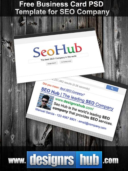 Free Business Card Psd Template For Seo Company  Designrshub
