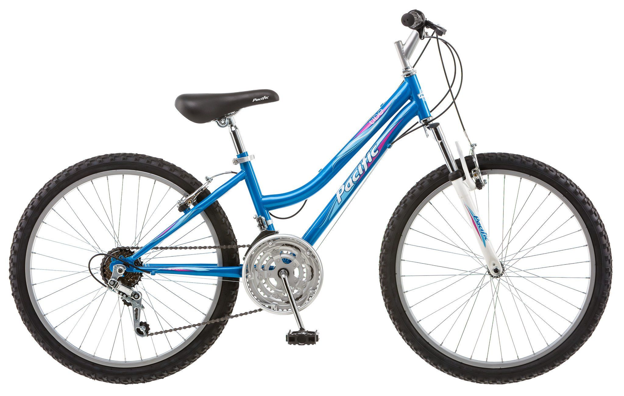 Pacific 24 Inches Girl S Atb Tide Bike Bicycle Blue Kids