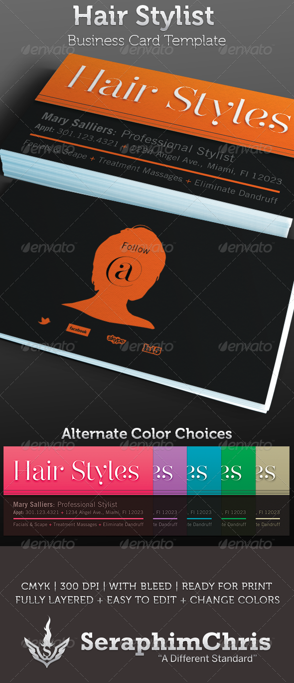 Hair Stylist Business Card Template Card Templates Business - Hair stylist business card template