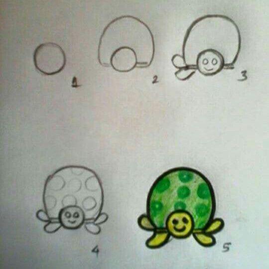 Disegno Tartarughe Disegni Tecniche Di Pittura Imparare A Disegnare