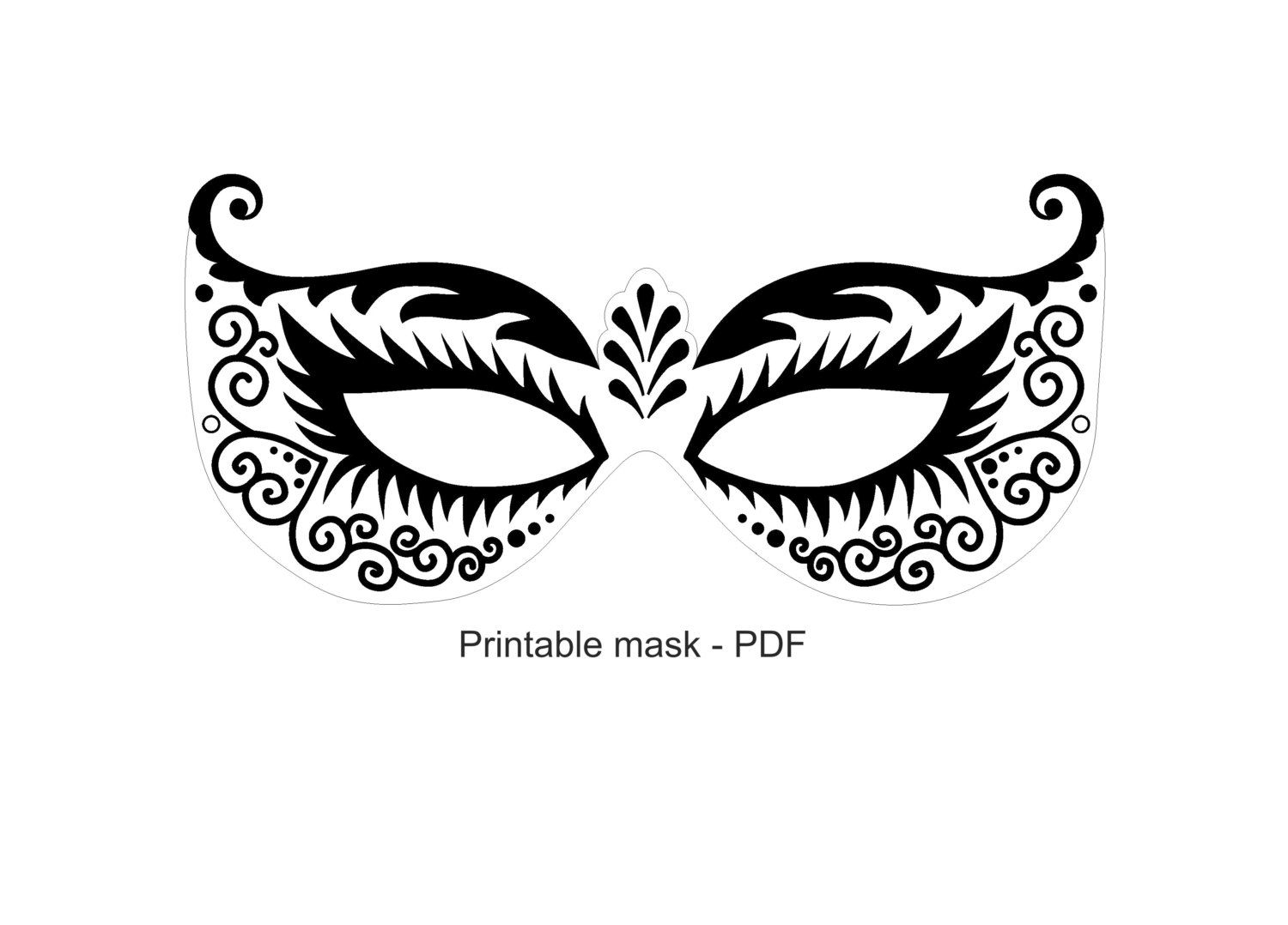 Juicy image for printable masquerade masks