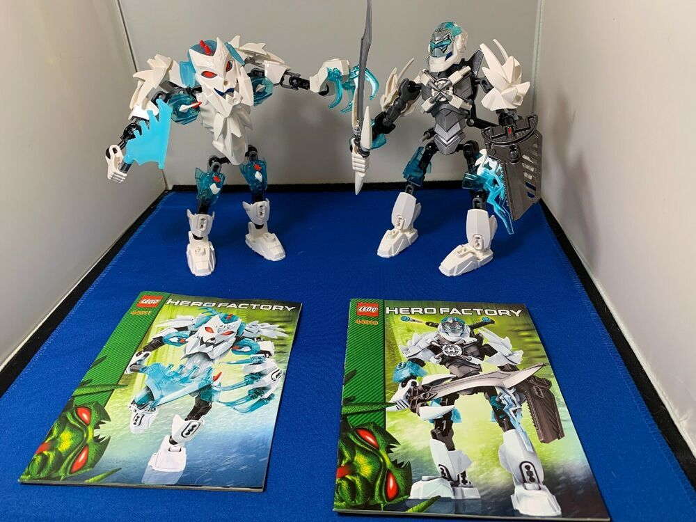 Complete Retired Lego Hero Factory Frost Beast 44011 Stormer 44010 W