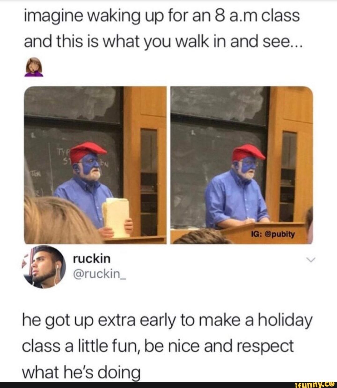 Imagine Waking Up For An 8 Am Class And This Is What You Walk In And See He Got Up Extra Early To Make A Holiday Class A Little Fun Be Nice