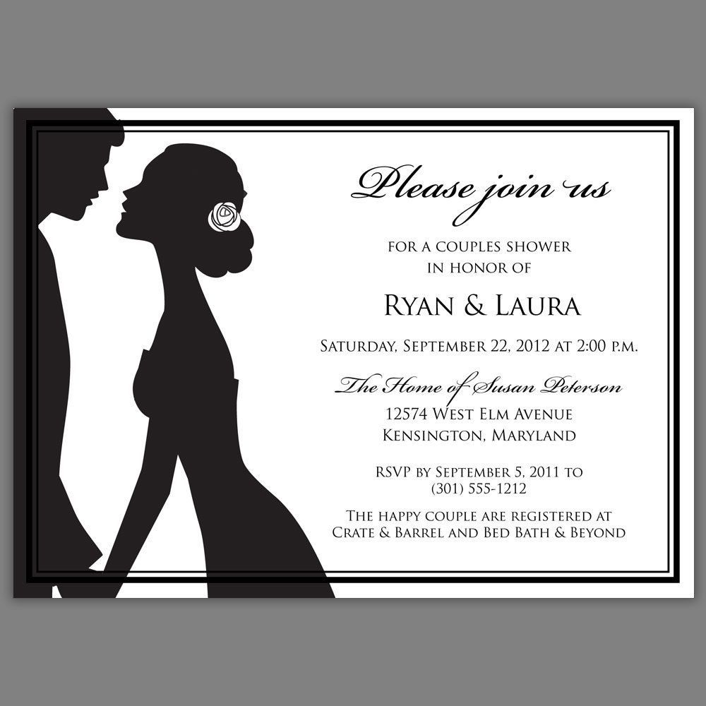 Marvelous Couples Bridal Shower Invitations Templates