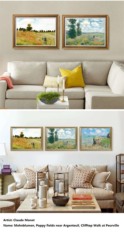 Mohnblumen Claude Monet Texture Framed Art Prints Bestofwall Com Framed Art Prints Framed Art Claude Monet