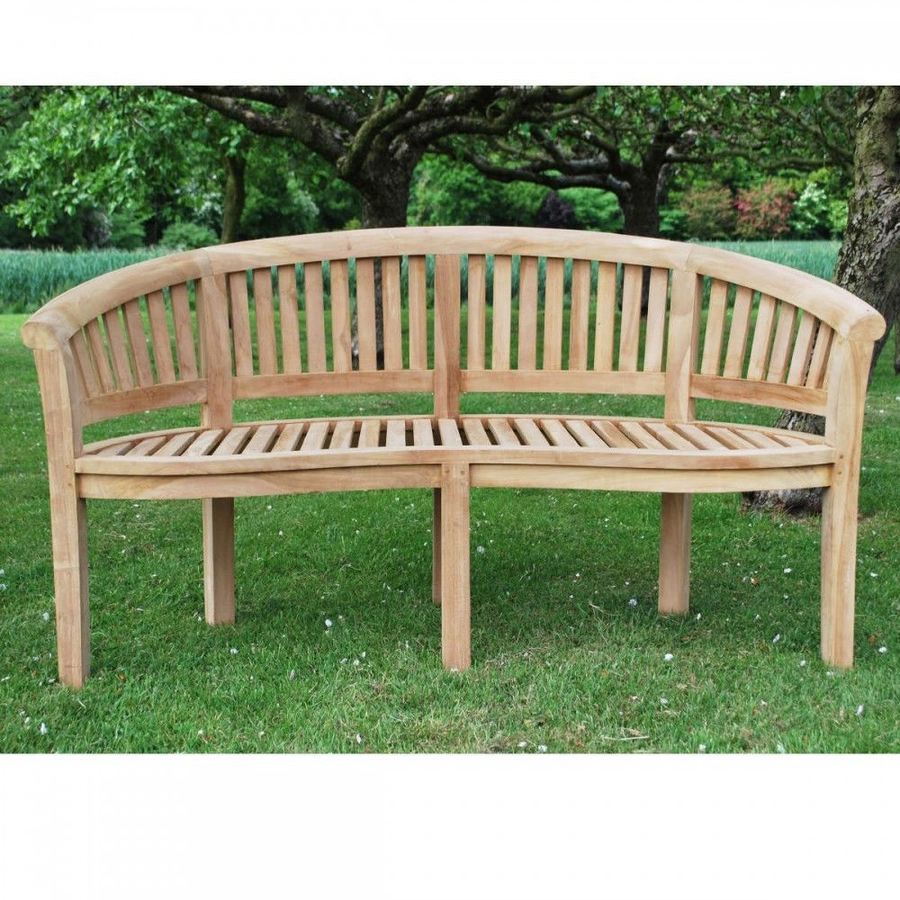 Awesome Bowood Teak Curved Garden Bench 150Cm Summer Patio Furniture Ocoug Best Dining Table And Chair Ideas Images Ocougorg