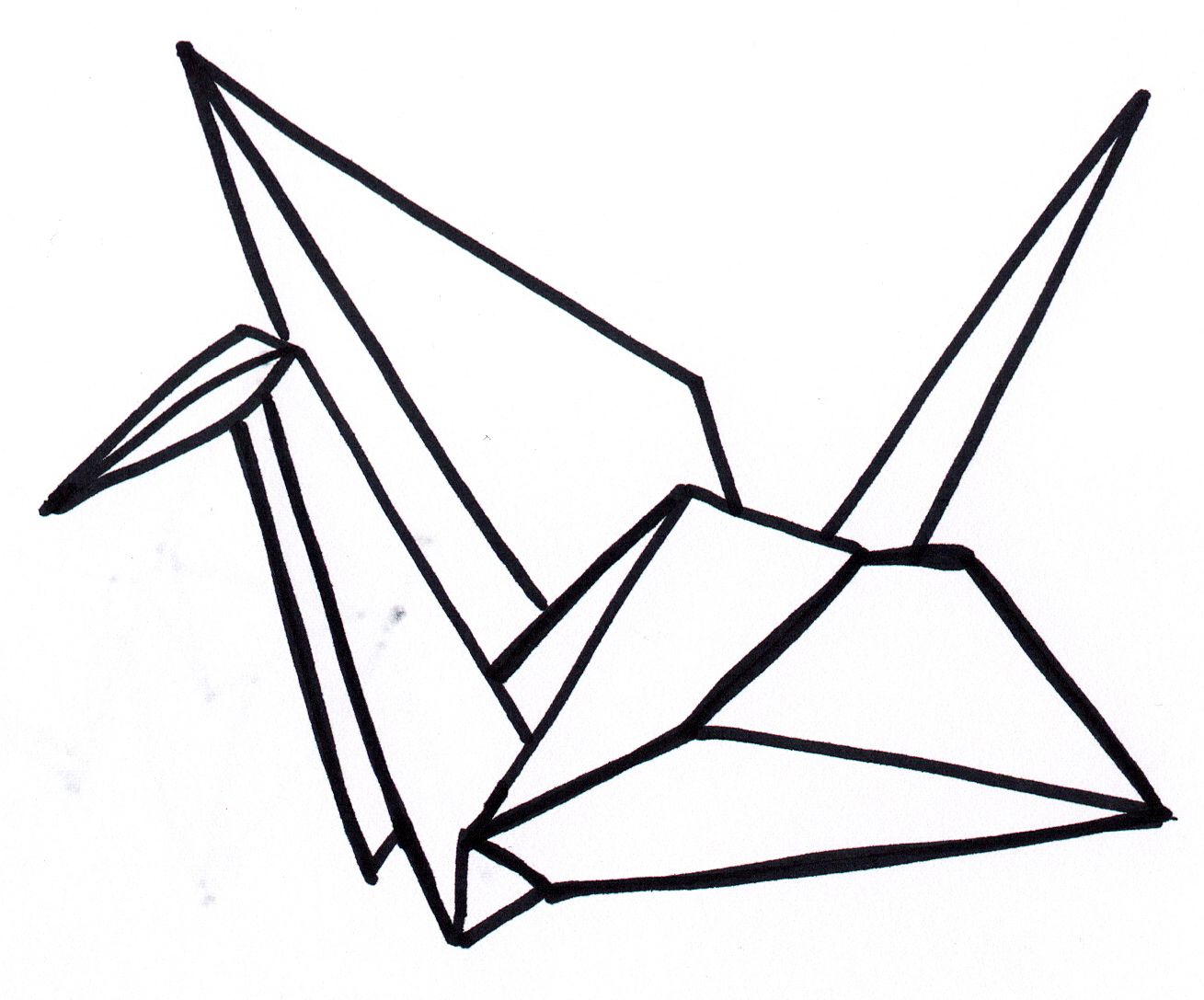 Paper crane. I folded 1,000 of them once. | Tattoo Ideas ... - photo#15