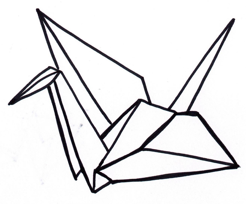 Paper crane. I folded 1,000 of them once. | Tattoo Ideas ... - photo#26