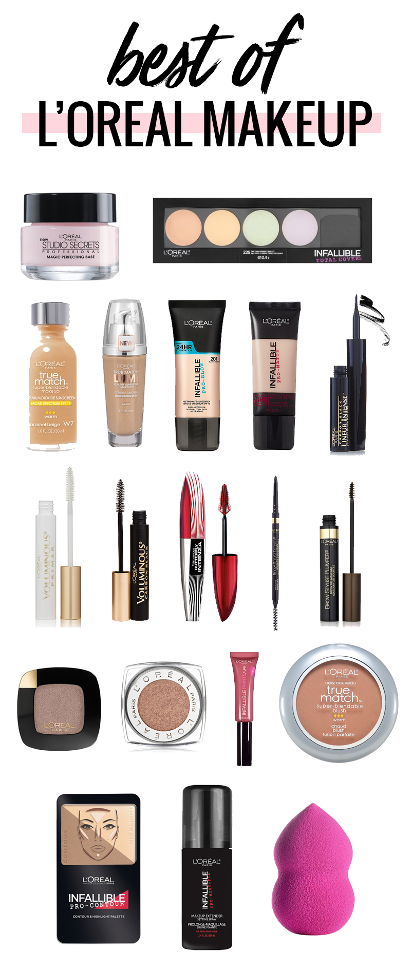 The Best L'Oreal Makeup Best makeup products,