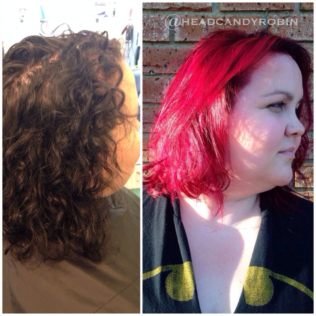 The before & after from yesterday's total #transformation for Kate's birthday hair #makeover day! Yes that happened! From black box color to a rooted deep plum to bright magenta color melt! Then we went in the sunshine & WOW! By Robin! She's back in the salon taking appointments Thursdays & Saturdays! #salonheadcandy #arcticfoxhaircolor #americansalon #btcpics #magentahair Follow her on Instagram @headcandyrobin #headcandyrobin