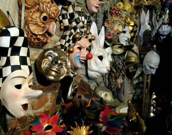 Mask shop interior Venice, 2007. Photo by Rudollf Bitzer