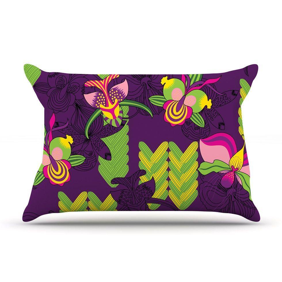 Orchids Festival by Yenty Jap Woven Pillow Sham
