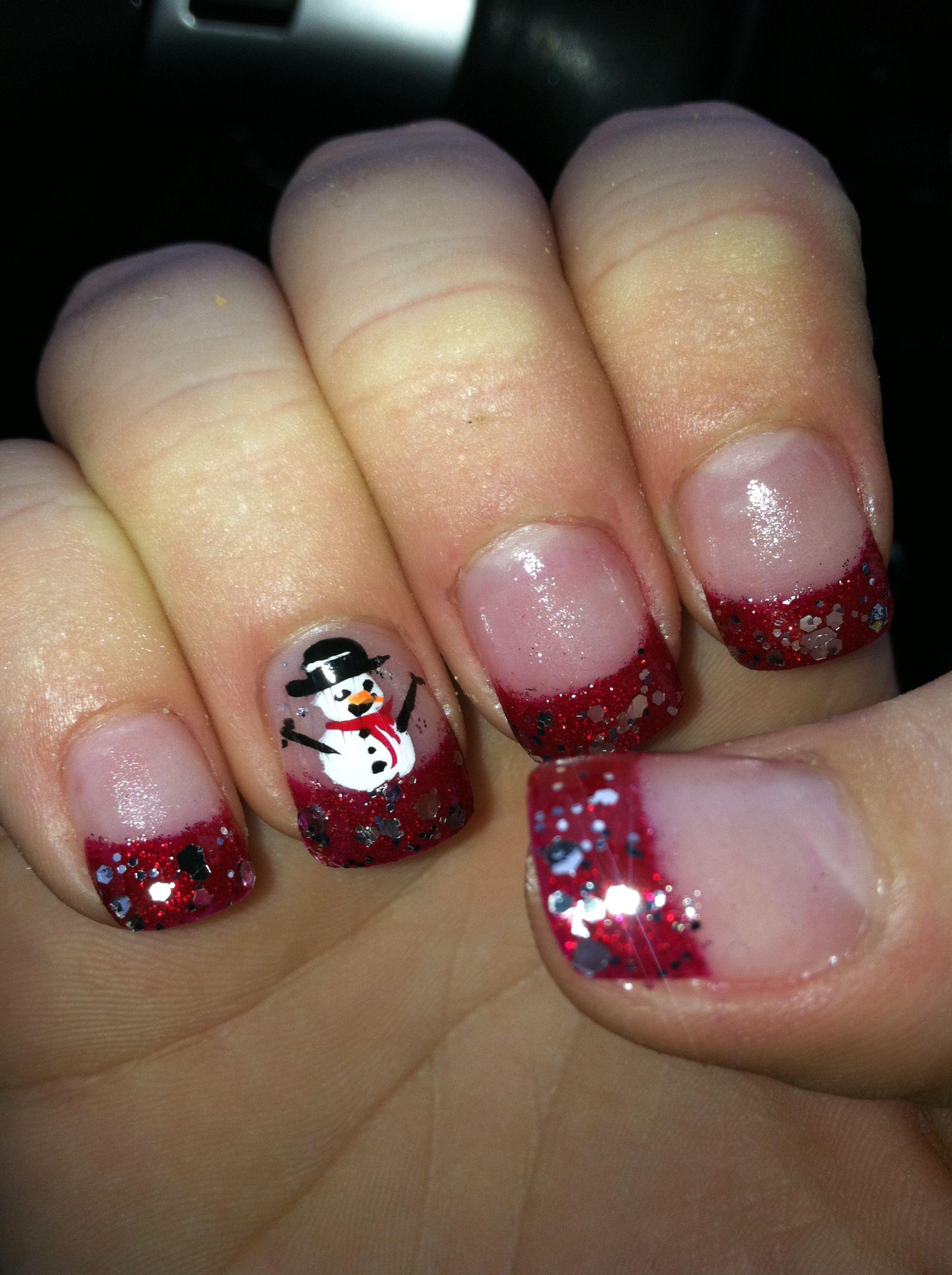 Christmas nail decorations!! | anything | Pinterest | Nail ...