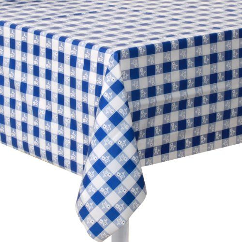 Incroyable Creative Converting Plastic Banquet Table Cover, Blue Gingham Creative  Converting Http://www
