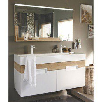 Miroir avec éclairage intégré l.120 cm Eden | Leroy Merlin ...